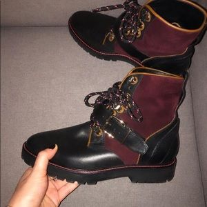 Authentic Burberry Lace up booties